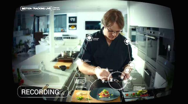 ロボットアーム付きキッチン