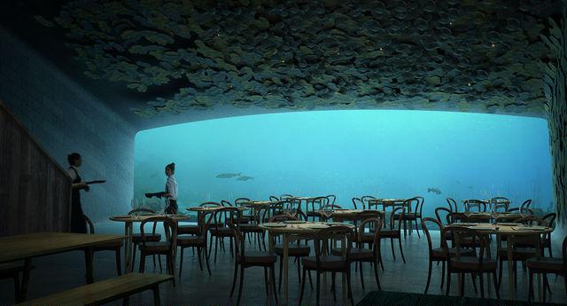 ノルウェーの「海底レストラン」